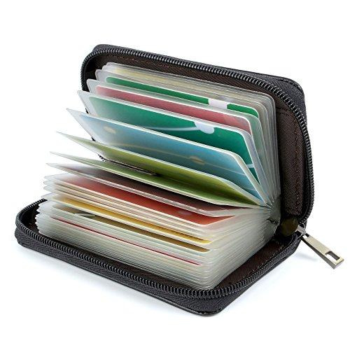 Tarjeteros para Tarjetas de Credito 26 Ranuras (Cuero Negro Especial)