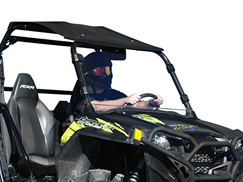 SuperATV Heavy Duty Clear Full Windshield for Polaris RZR 800 / 800 S / 800 4 / XP 900 / 570 / XP 4 900 (See Fitment for Compatible Years) - Easy Install!