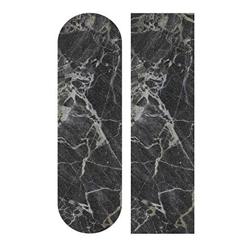 Skateboard Grip Tape Sheet 33 X 9 Inch - Black Marble Sandpaper for Rollerboard Longboard Griptape Bubble Free Grip Tape for Skateboard