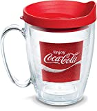 Tervis Coca-Cola - Coke Enjoy Insulated Tumbler with Emblem and Red Lid, 16oz Mug, Clear