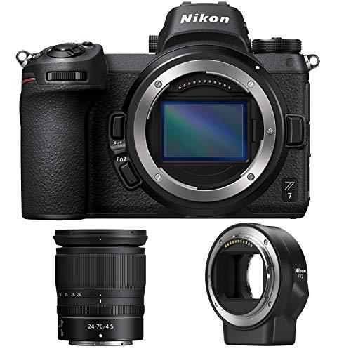 Nikon Z7 45.7MP FX-Format 4K Mirrorless Camera with NIKKOR Z 24-70mm f/4 + FTZ Mount Adapter