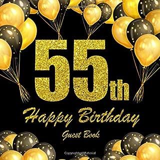 Happy 55th Birthday Guest Book.