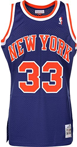 Mitchell & Ness Patrick Ewing #33 New York Knicks 1991-92 Swingman NBA Trikot Blau, M