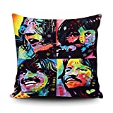 CafeTime Beatles Fab Four Home Decorative Canvas Throw Pillow Cover 18'X18'
