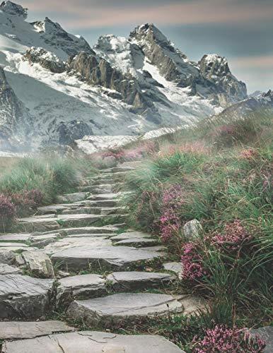 Mein Gipfellogbuch: Das Bergtouren Tagebuch zum selber ausfüllen ♦ Wandertagebuch für die schönsten Wanderungen, Aussichten und Erinnerungen ♦ A4+ ... ♦ A4+ Format ♦ Motiv: Steintreppe
