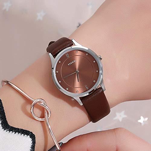 Gürtel Uhr/Mode Zifferblatt Persönlichkeit Strass Weiblich Uhr Gürtel Uhr Uhr Weiß Shell Kaffee Nudel