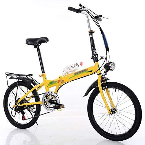 Mini bicicleta plegable bicicleta al aire libre Streamline marco hombres mujeres bicicleta plegable 20 pulgadas bicicleta plegable urbana plegado-A_20 pulgadas