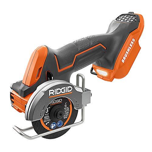 RIDGID 18V sin escobillas Sub-compacto inalámbrico 3 pulgadas multi-material sierra, R87547B