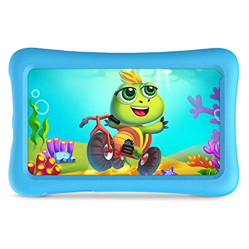 VANKYO Z1 Tablet per Bambini 7 Pollici 32GB ROM, Android 10 IPS HD Display WiFi Bluetooth Kidoz Preinstallato con Kid-Proof Custodia (Azzurro)