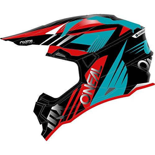 O'NEAL   Casco de Motocross   MX Enduro   Estándar de Seguridad ECE 22.05, Ventilación para una óptima ventilación y refrigeración   Casco 2SRS Spyde 2.0   Adultos   Negro Rojo Rojo   Talla M