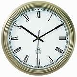 Tempus TC6080BRZ - Reloj de Pared con Marco de Metal y función de Ahorro de luz del día, Movimiento de Ajuste automático, 12-1/2 Pulgadas, Bronce