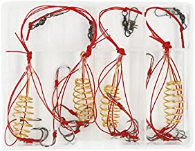 Mimilure Carp Fishing Baits Hook Lure Trap Hooks with Spring Feeder Coarse Fishing Tackle (10#)