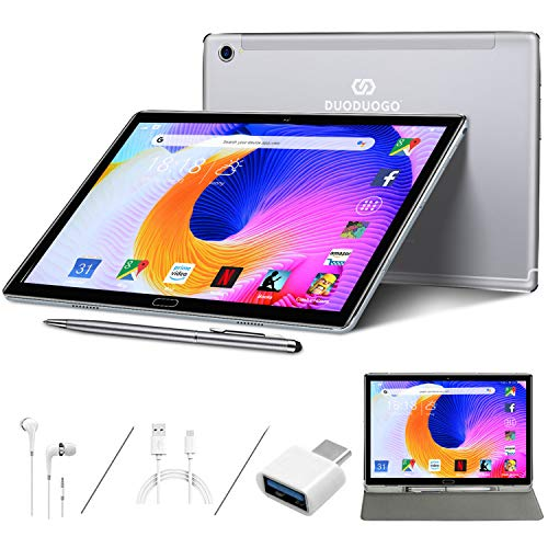 Tablet 10.8 Inch 2K Ultra-clear Screen, 10-Core 2.3GHz, Android 10.0, 16.0MP + 8.0MP, 4GB RAM, 64GB ROM / 512GB Expansion, 8000mAh, Support 4G Dual SIM 5G Dual WiFi, GPS, Type-C