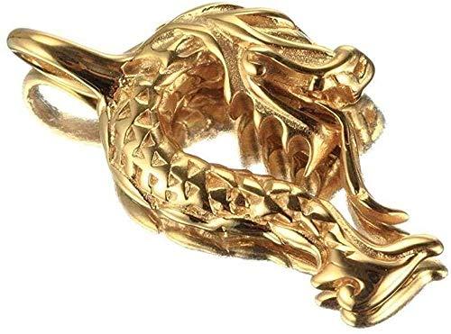 Collar Joyas de Acero Inoxidable Collar de Hombres Grifo Vintage Colgante de Acero de Titanio Collar de Oro Dorado Regalo para Mujeres Hombres