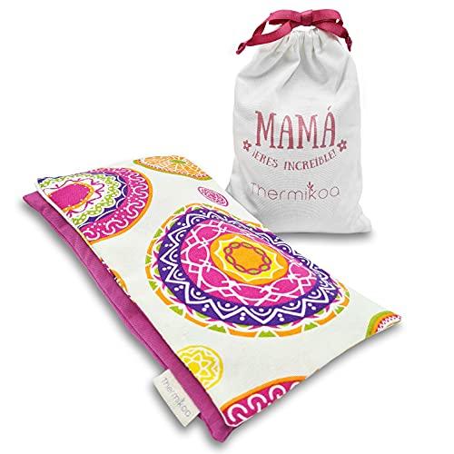Saco Térmico Semillas - Bolsa de Semillas Microondas para Mamá con flores de Lavanda y Romero - Saquito de Semillas con Funda Lavable Apto para Calor y Frío - 850gr (Thermikoa)