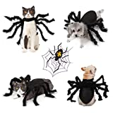 Idepet Pet Dog Halloween Costume Dog Cloak Bat Wings Purple Octopus Hat Devil Horns Hat Party Cone Hat Bow Ties Dogs Cats Hoilday Costume Decoration Hair Accessories for Puppy
