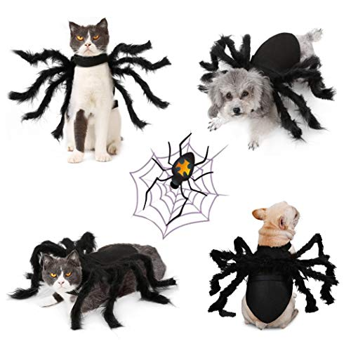 Idepet Haustier Hund Halloween Kostüm Hund Mantel Fledermaus Flügel Hut Teufel Hörner Hut Party Hunde Katzen Dekoration Haarschmuck für Welpen