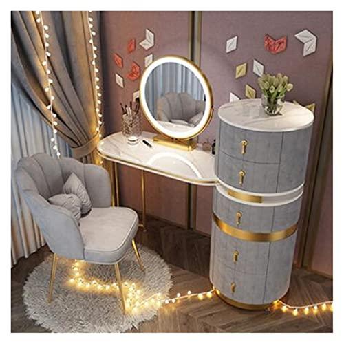 YSJJYQZ Tocador Dormitorio Nordic Luxury Tocador Mueble de Almacenamiento Integrado Tocador Italiano Online Celebrity Ins Insterse Wind Thille (Color : 100pc)