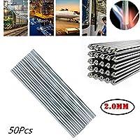 低温溶接棒イージーメルトアルミニウムフィラー1.6.2.0mmフラックス入りワイヤS-G09W1ガスレスMIGはんだ付けろう付けソリューション(50ルート) (500 * 2mm)