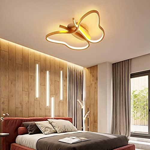 MZT Luz de decoración de Mariposa Creativa Luz de Techo LED de atenuación Continua Luz de Techo para niños Acrílico Alta transmisión de luz,Oro