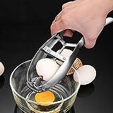Eggshell Cracker,Stainless Steel Rapid Egg Opener, Automatic Egg Cracking Tool, Easy Eggshell Cutter Stainless Steel Eggshell Cutter Egg Separator