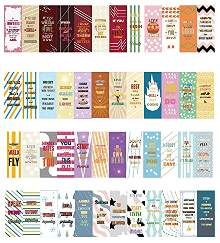 48 PCS Magnetic Bookmarks, Inspirational Quotes Book Markers Sets for Students Teachers Reading (2.3 x 0.8 inch )