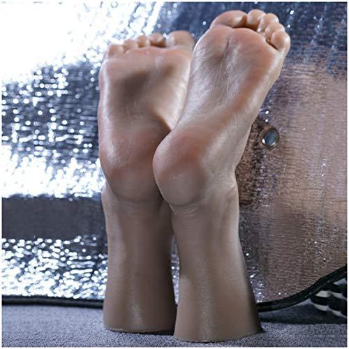 WJH Silikon Füße Modell - Simulation der männlichen Fuß - Schuh-Socken-Anzeige Art Skizze Nail Medical Malerei Pediküre Unterricht Schöne Beine,A Pair