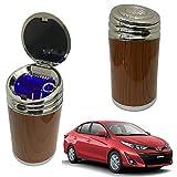 Oshotto High Temperature Portable Wooden Design Car Ashtray for Toyota Yaris