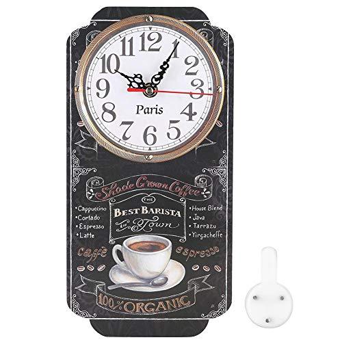 Bigking Wanduhr, Elegante rechteckige Wanduhr Stilvolle hängende Uhr für Wohnzimmer Bar Ornament