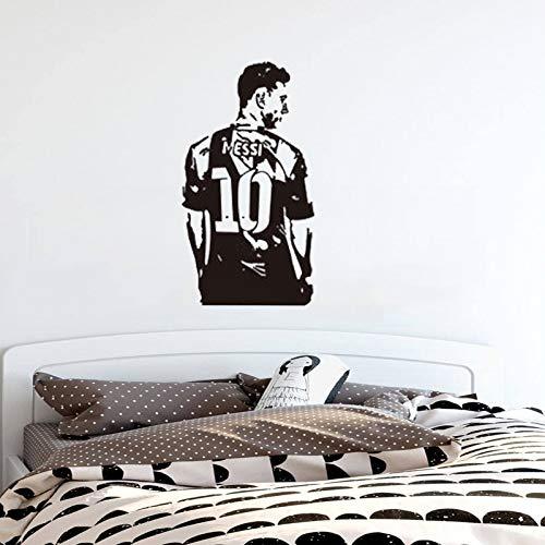 Tianpengyuanshuai muurstickers, messi sterren, voetballers, kamer, afneembaar, sportplakaat, zelfklevend, 63 x 114 cm