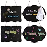 AUSTOR Chalkboard Sign 8x10 Inch Double Sided Erasable Message Board with Hanging Strings,...