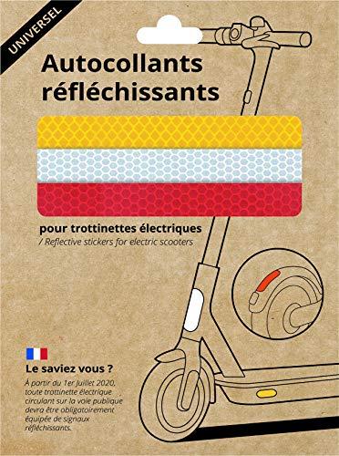 Yeep.me Universal - Kit de Pegatinas Reflectantes para Patinete eléctrico