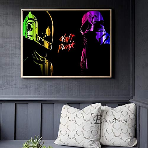 ganlanshu Casco música Cartel e impresión Lienzo Arte Mural salón decoración hogar decoración,Pintura sin marco-80X105cm