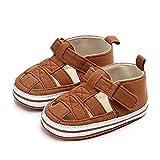 (0-1Y) Zapatillas Antideslizantes para bebé niño Zapato Primeros Pasos de Cuero Suave de PU...