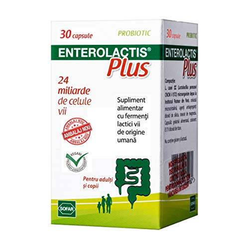 Sofar Enterolactis Plus Probiotico, Per adulti e bambini, 30 capsule