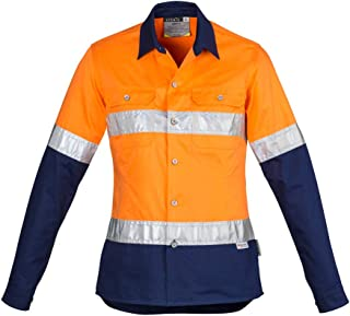 Syzmik Workwear Womens Hi Vis Spliced Industrial Shirt Hoop Taped ZWL123