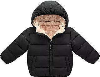 Abrigo Niño Niña Abrigo de Invierno con Capucha Capa Chaqueta Ropa de Abrigo Abrigada Gruesa Ropa Bebe Infantil