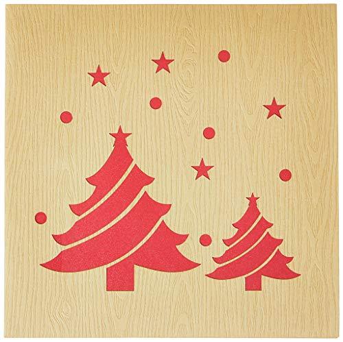 Biglietto Di Auguri Con Origami, Albero Di Natale