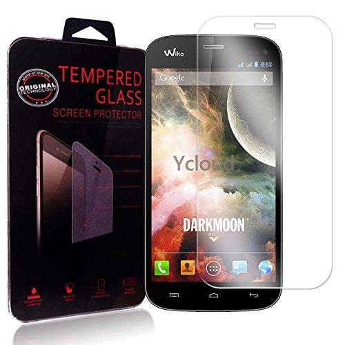 Ycloud Panzerglas Folie Schutzfolie Bildschirmschutzfolie für Wiko Darkmoon screen protector mit Festigkeitgrad 9H, 0,26mm Ultra-Dünn, Abger&ete Kanten