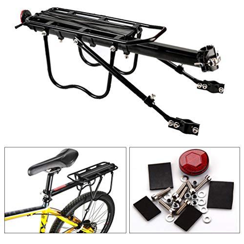 Imikeya Universele fietsendrager voor mountainbike, achterbank voor fietsendrager, fietsendrager achter, gemonteerd op frame voor zware lasten en accessoires