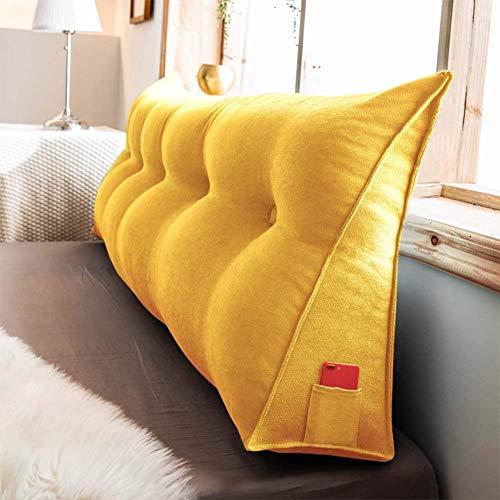 Cuña Triangular Almohadas de lectura Almohada de cuña triangular tapizada, cabecero grande y suave Cojín de cuña relleno Respaldo de cama Soporte de posicionamiento Almohada de lectura Almohadilla