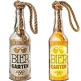 alles-meine.de GmbH Glas - Lichterflasche - 6 Stück LED _ Bier Garten _ LICHT Dekoflasche / Flasche / Bierflasche - 25 cm - Batterie betrieben - warmweiß - Flaschenlicht - Dekoli..