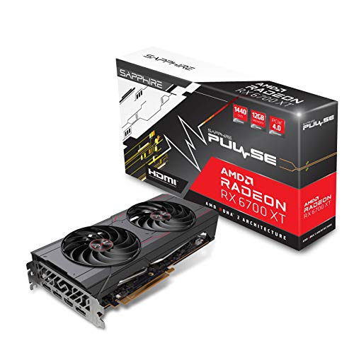 Sapphire Technology Pulse AMD Radeon RX 6700 XT Gaming Graphics Card with 12GB GDDR6, AMD RDNA 2 (11306-02-20G)