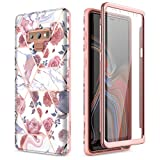 SURITCH for Samsung Galaxy Note 9 Marble Case, [Built-in Screen...