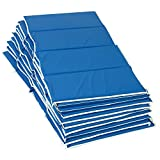 Children's Factory - CF400-052 1' Tough Duty Folding Blue Rest Mat for Toddlers & Kids, 4-Fold Daycare Sleeping Floor Mat, Portable Foam Napping Mats, 10 Pack