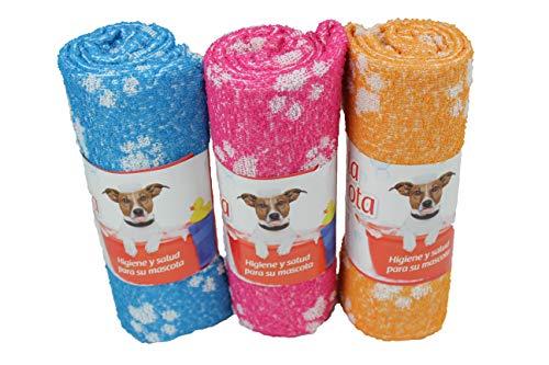 Pack de 3 Toallas para Perro, Toalla de Rizo Absorbente, Suave y Resistente para Mascotas. (70x100)