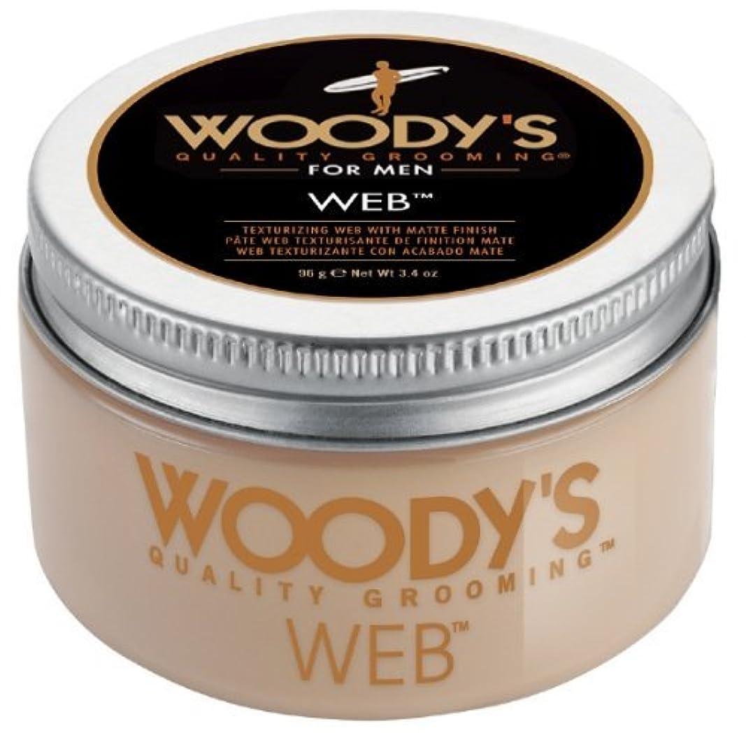 タクシー飛行場パンWoody's Men Hair Styling Web Pomade Matte Finish Wet Or Dry Hair Cr??me Gel 96g by Woody's [並行輸入品]