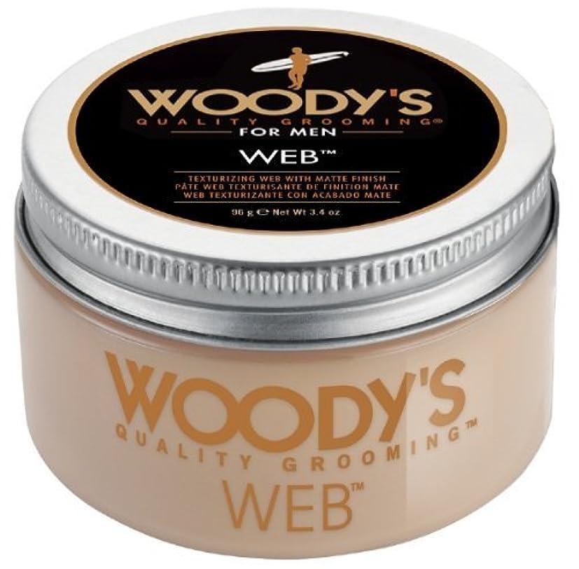 シチリアやむを得ない過度のWoody's Men Hair Styling Web Pomade Matte Finish Wet Or Dry Hair Cr??me Gel 96g by Woody's [並行輸入品]