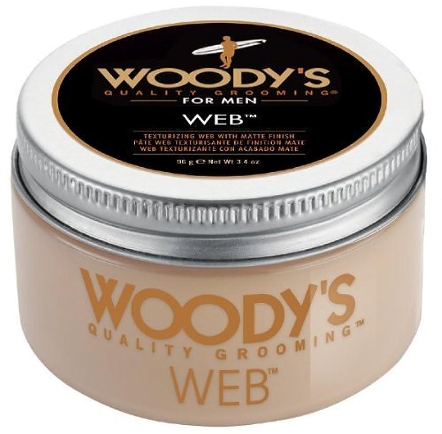 損なう自宅で墓地Woody's Men Hair Styling Web Pomade Matte Finish Wet Or Dry Hair Cr??me Gel 96g by Woody's [並行輸入品]