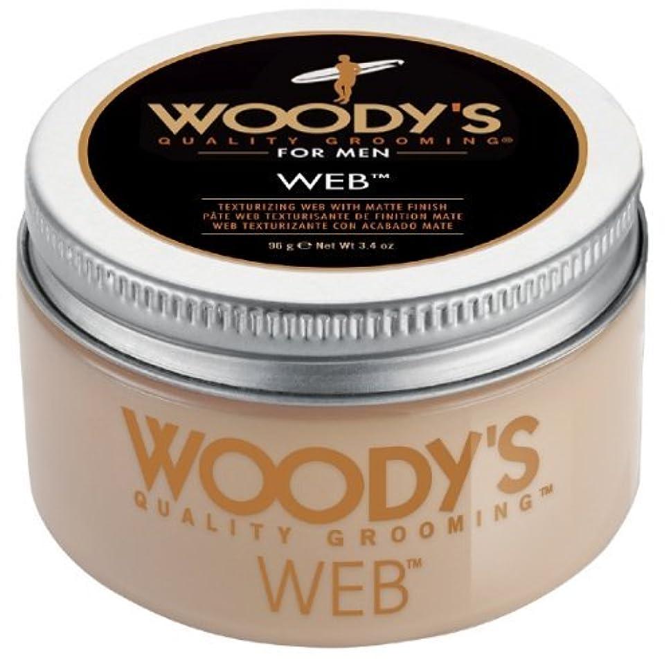 父方の訪問ジョージハンブリーWoody's Men Hair Styling Web Pomade Matte Finish Wet Or Dry Hair Cr??me Gel 96g by Woody's [並行輸入品]